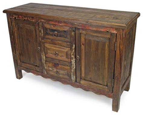 Rustic Sideboards Furniture by Rustic Wood Sideboard 2 Door 3 Drawer Rustic