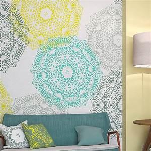 Pochoir Peinture Murale : 1000 id es sur le th me mandala stencils sur pinterest ~ Premium-room.com Idées de Décoration