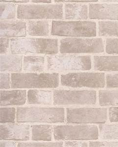 BRICK WALLPAPER Aged Off White Brick with Texture HE1045 ...