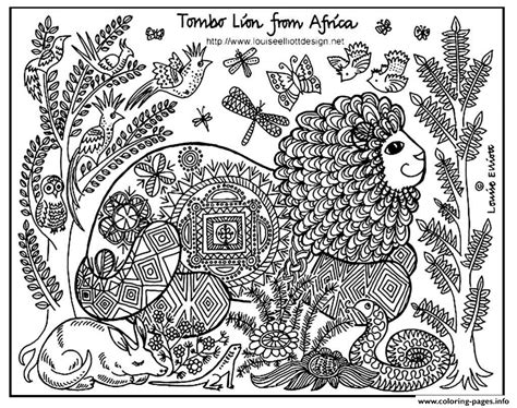 Adult Africa Lion Coloring Pages Printable