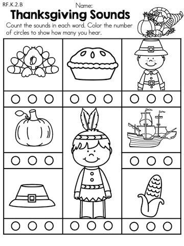 pre kindergarten thanksgiving worksheets festival