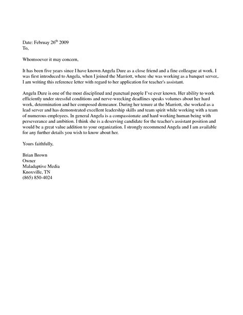 letter of recommendation for friend recommendation letter for a friend letter of recommendation