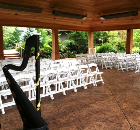rockford wedding harpist ceremony at japanese