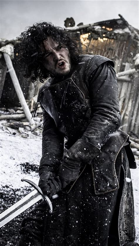 fonds decran jon snow game  thrones serie tv