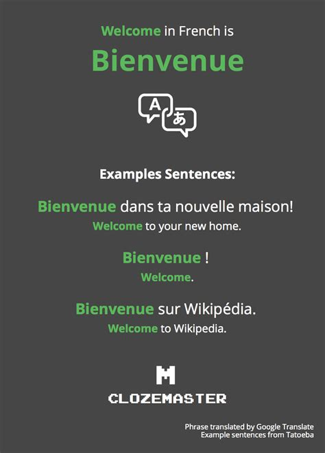 How to Say Welcome in French - Clozemaster