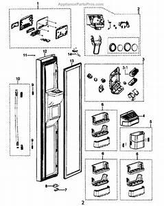 Parts For Samsung Rs265tdrs  Xaa  Left Door Parts