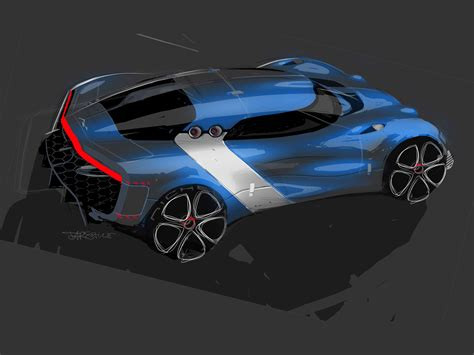 Renault Alpine A110 50 Concept Design Sketch Car Body