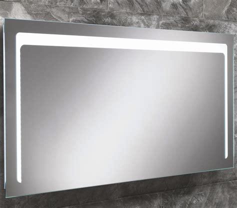 Lit Bathroom Mirrors by Hib Christa Steam Free Led Back Lit Mirror 1200x600mm