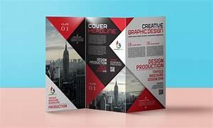 Corporate, Trifold, Brochure, Design, Free, Template