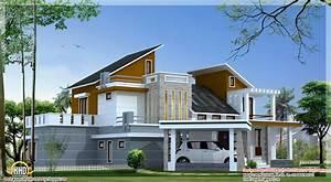 4 Bedroom contemporary villa elevation 2500 Sq Ft