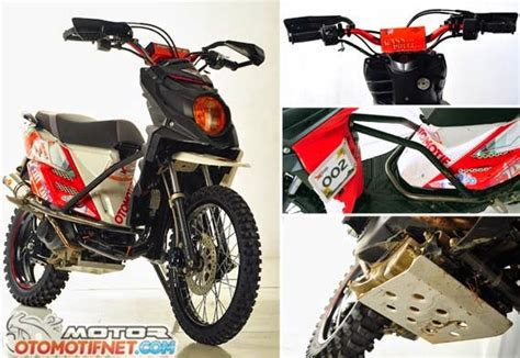 Modifikasi Mio Sporty Menjadi X Ride by Modifikasi Motor Yamaha Mio Menjadi Trail Modifikasi