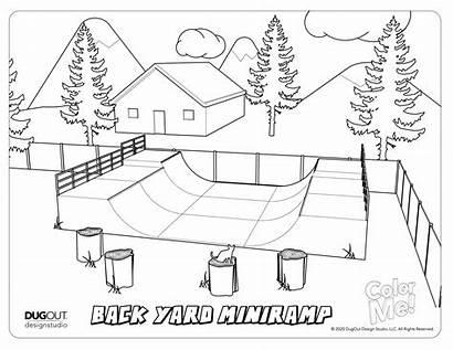 Coloring Skatepark Ramp Backyard Future Designers Activity
