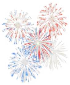 Transparent July 4th Fireworks