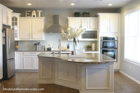 Kitchen Makeover 14  Island Molding  Because I Like To