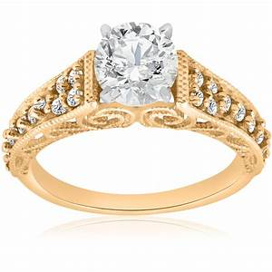 5 8ct vintage diamond engagement ring 14k yellow gold for Where can i sell my old wedding ring