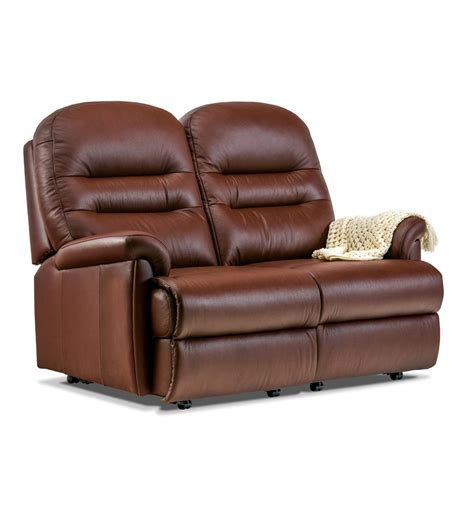 Small 2 Seater Settees by Keswick Leather Fixed 2 Seater Settee Care100