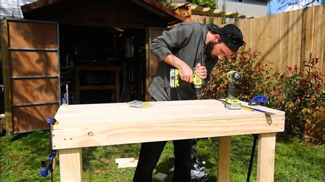 build  simple cheap work bench youtube