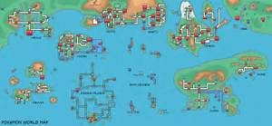 pokemon world map and locations images