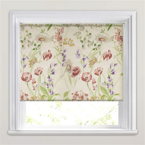 wild meadow country kitchen window patterned roller blinds