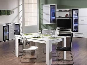 salle a manger conforama avec table blanche photo 3 10 With meuble salle À manger avec table salle a manger extensible conforama
