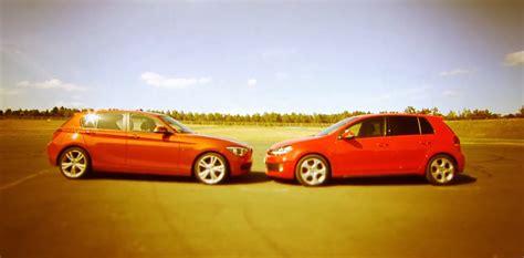volkswagen bmw bmw f20 125i vs volkswagen golf gti comparison test