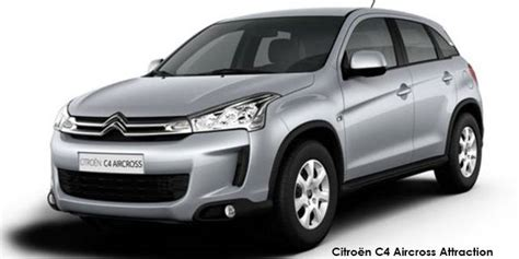 citroën c4 aircross confort citroen c4 aircross 2 0i comfort specs in south africa cars co za