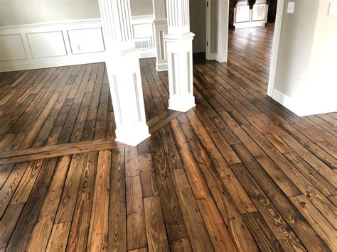 parkville mo rough cut wide plank pine hardwood floor