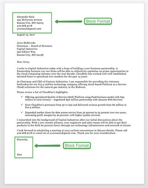 business letter format closing examples account bank