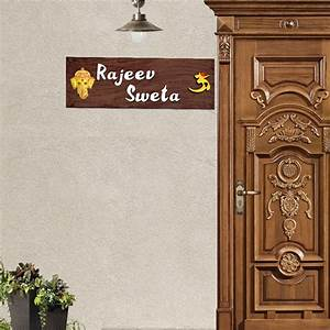 Decorative wooden nameplates shop for fancy customized for Decorative name plates for home