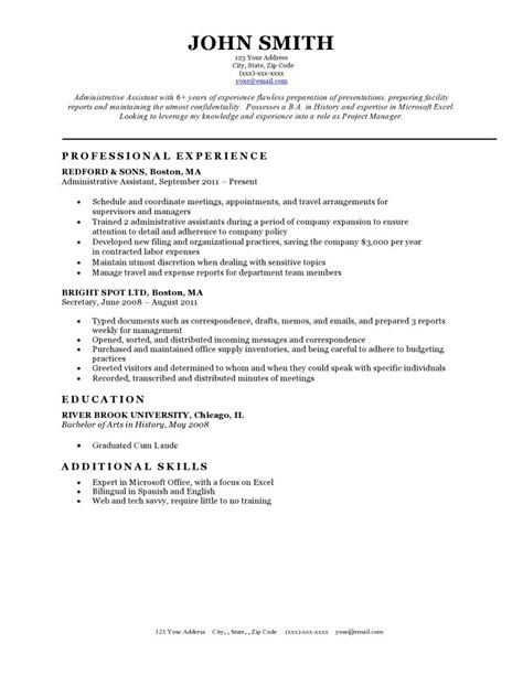 Free Classic Resume Templates in Microsoft Word Format - CreativeBooster