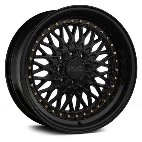 black wheels xxr 536 wheels black with gold rivets rims