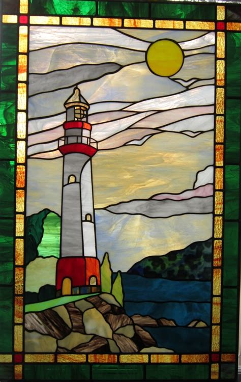 stained glass lighthouse l stained glass windows spectrum stained glass studio