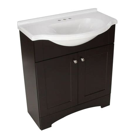 home depot bathroom sink tops glacier bay del mar 30 in w x 19 in d bath vanity in