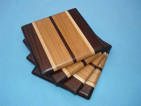 wood coasters walnut maple cherry diy wood projects