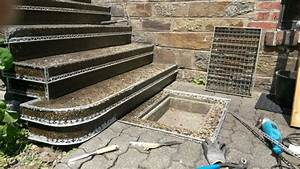 Treppenstufen Stein Außen Verlegen : waschbetontreppe mit steinteppich sanieren steinteppich in ihrer n he ~ Orissabook.com Haus und Dekorationen