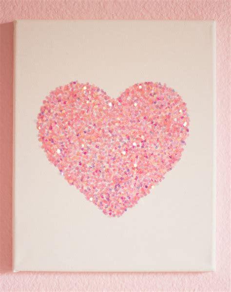 easy glitter wall art diys