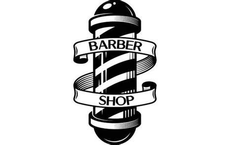 Barber Logo 6 Pole Salon Haircut Hair Cut Hairstyle