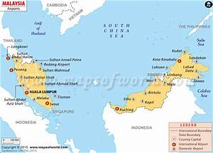 Airports in Malaysia, Malaysia Airports Map