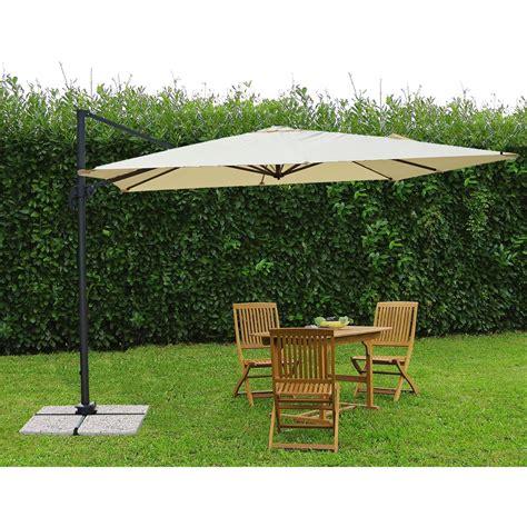 ombrellone per giardino ombrellone da giardino a braccio laterale 3x3m top gun