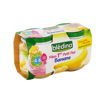 mon 1er petit pot banane bledina 2x130g simply market