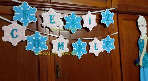 Guirnalda cartel Frozen en goma eva Fiesta frozen