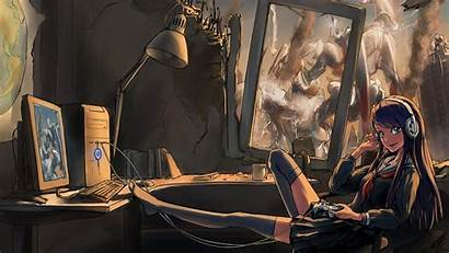 Anime Gaming Pc Gamer Wallpapers Background Desktop