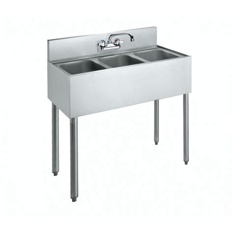industrial kitchen backsplash krowne metal cs 1836 36 quot three compartment convenience 1836