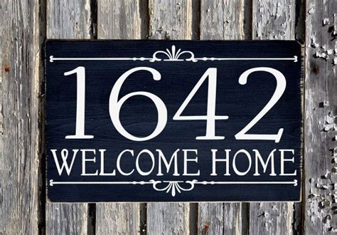 address house numbers sign outdoor plaques personalized