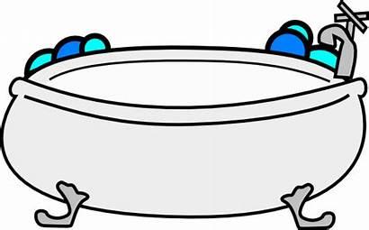 Bathtub Bubbles Cartoon Clipart Clip Bath Bubble