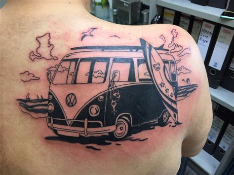 volkswagen bus tattoo vw bus tattoo pictures to pin on pinterest tattooskid