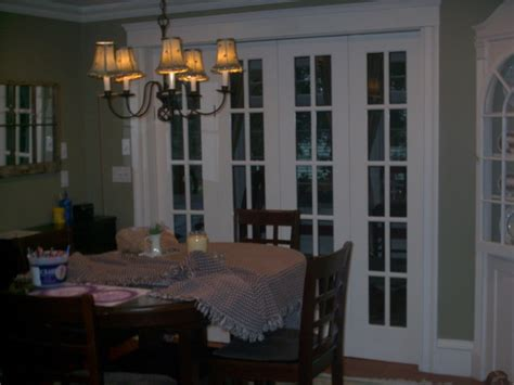 custom bi fold french doors traditional dining room