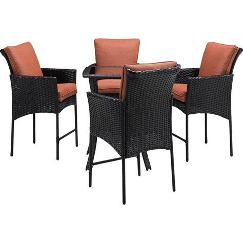 hanover strathmere allure 5 piece all weather wicker