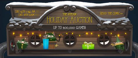 inaugural steam holiday auction lets  trade guff