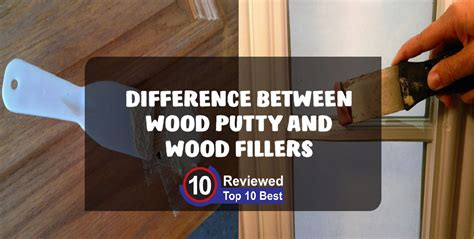 difference  wood putty  wood filler